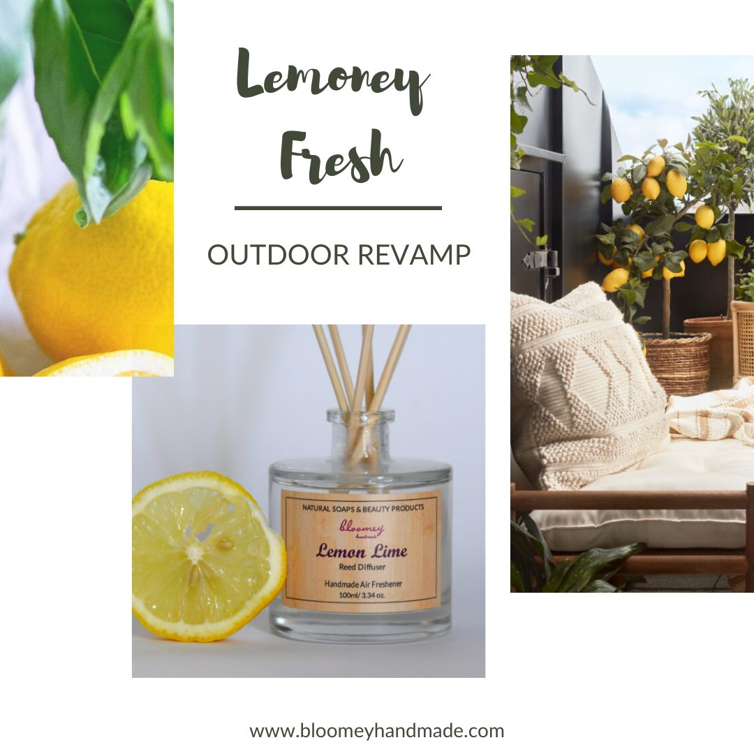 Lemon Lime Home Fragrance, Reed Diffuser, Yellow & Green, Balcony relax, Veranda, Outdoor Revamp, Garden